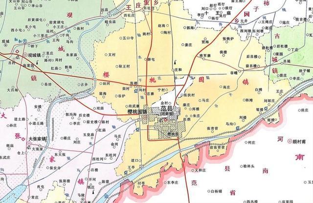 莘县樱桃园镇地图
