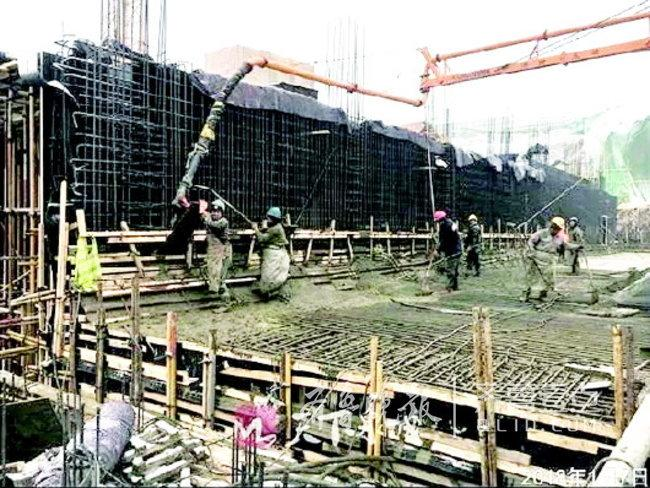 正在建设中的华山水质净化厂建设项目。(资料片)