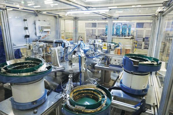 位于济南高新区的费斯托气动有限公司生产车间。