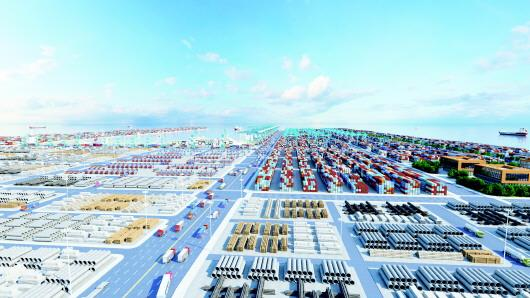 潍坊港规划图。规划实施后,可为联兴科技等周边企业提供全程物流服务。