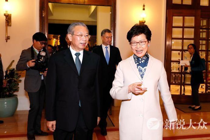 省委书记刘家义拜会香港特别行政区行政长官林郑月娥