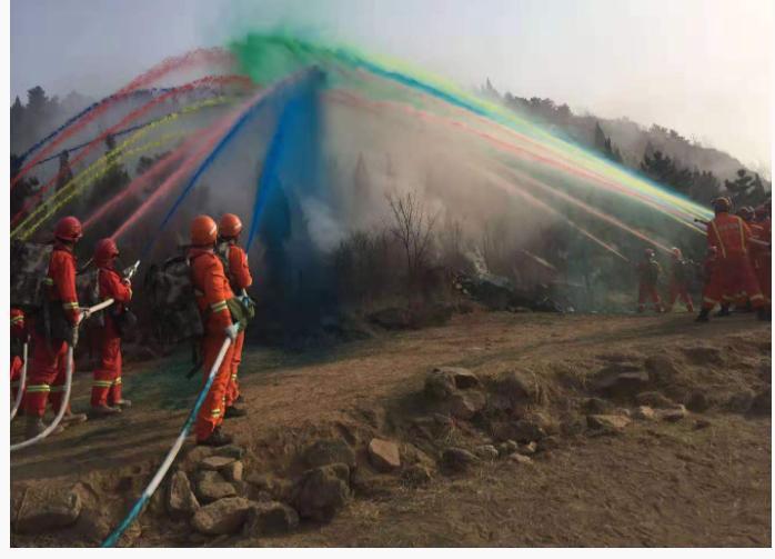 全省森林火灾空地一体化应急救援演练在泰举行