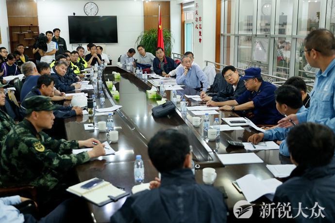 刘家义到桓台县现场指挥抢险救灾