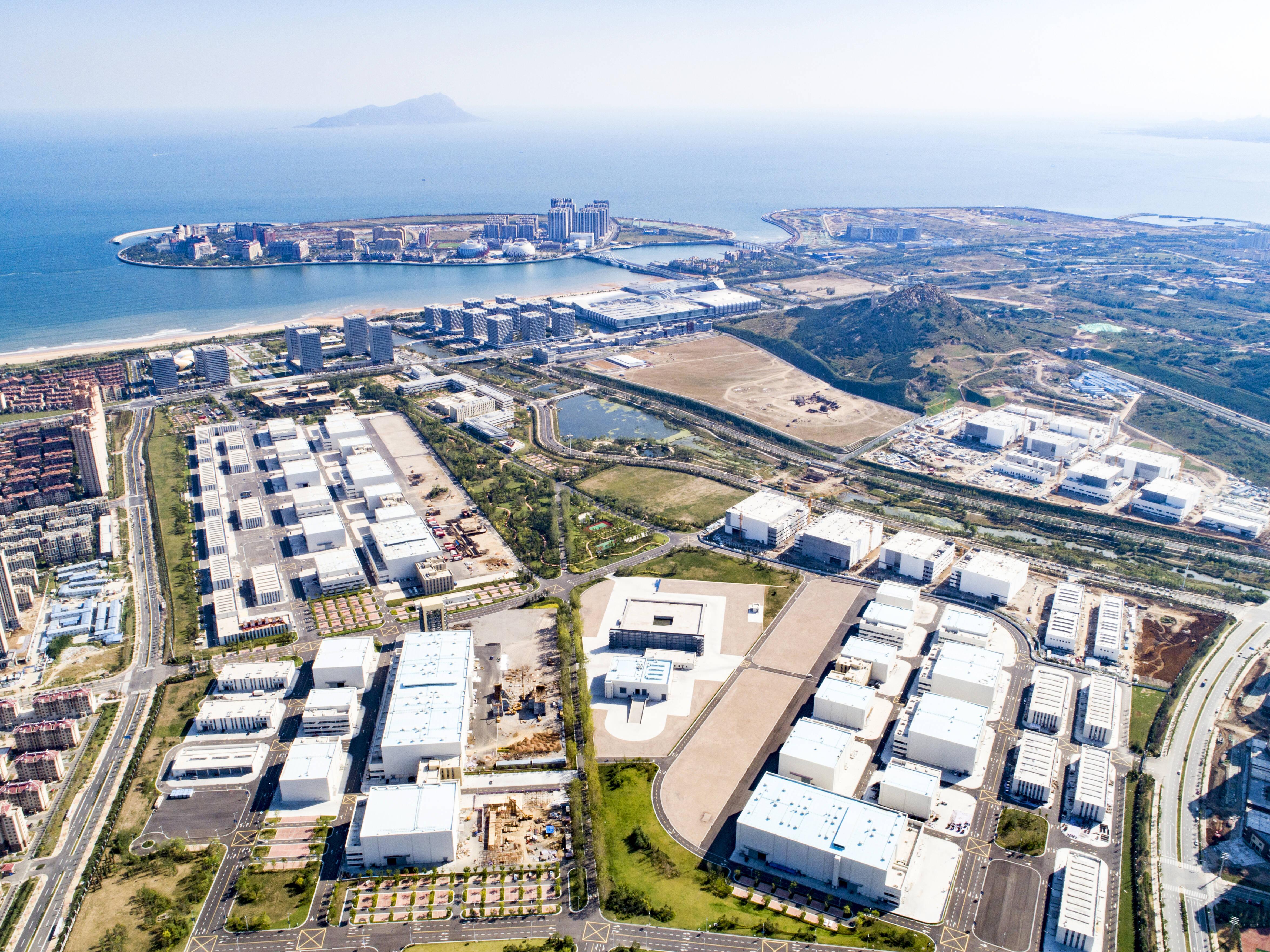 东方影都影视产业园俯瞰图。