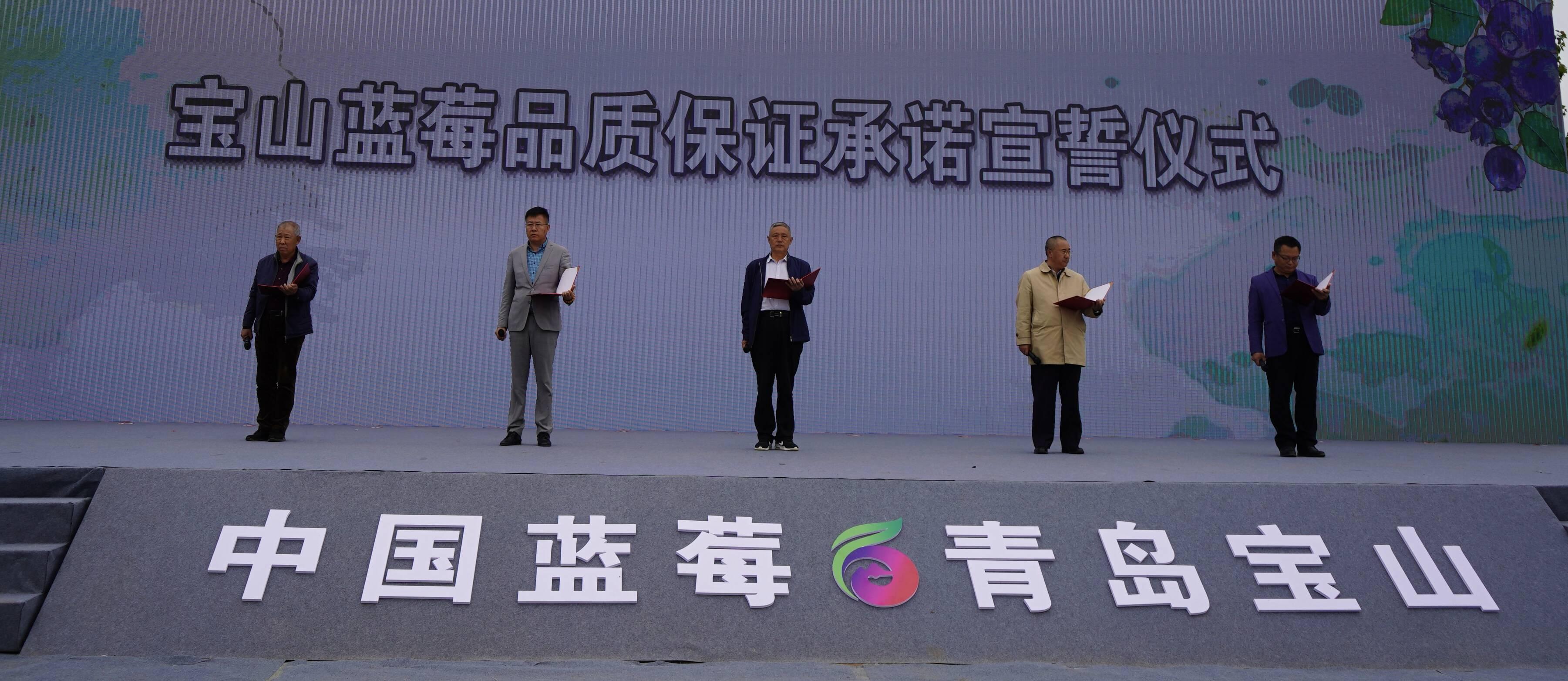 宝山蓝莓品质保证承诺宣誓仪式(记者 李凤仪 摄)