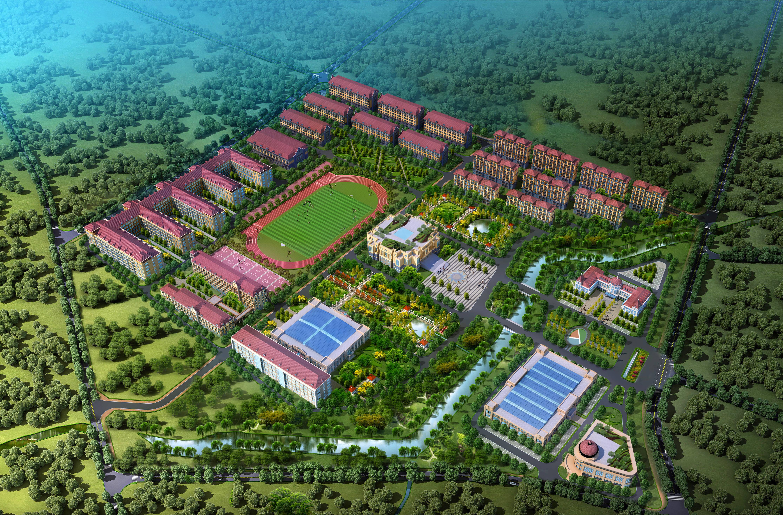 青岛滨海学院大珠山校区效果图。