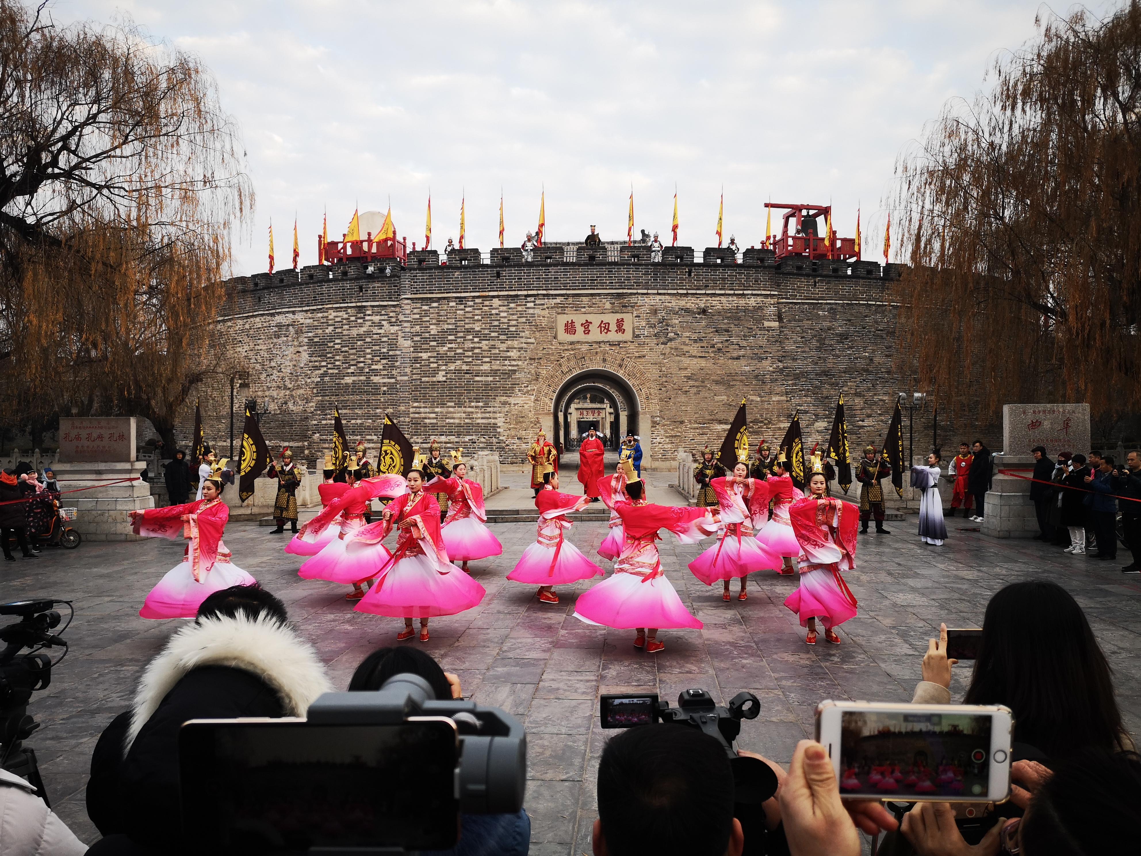 新年开城仪式。 姬生辉 报道