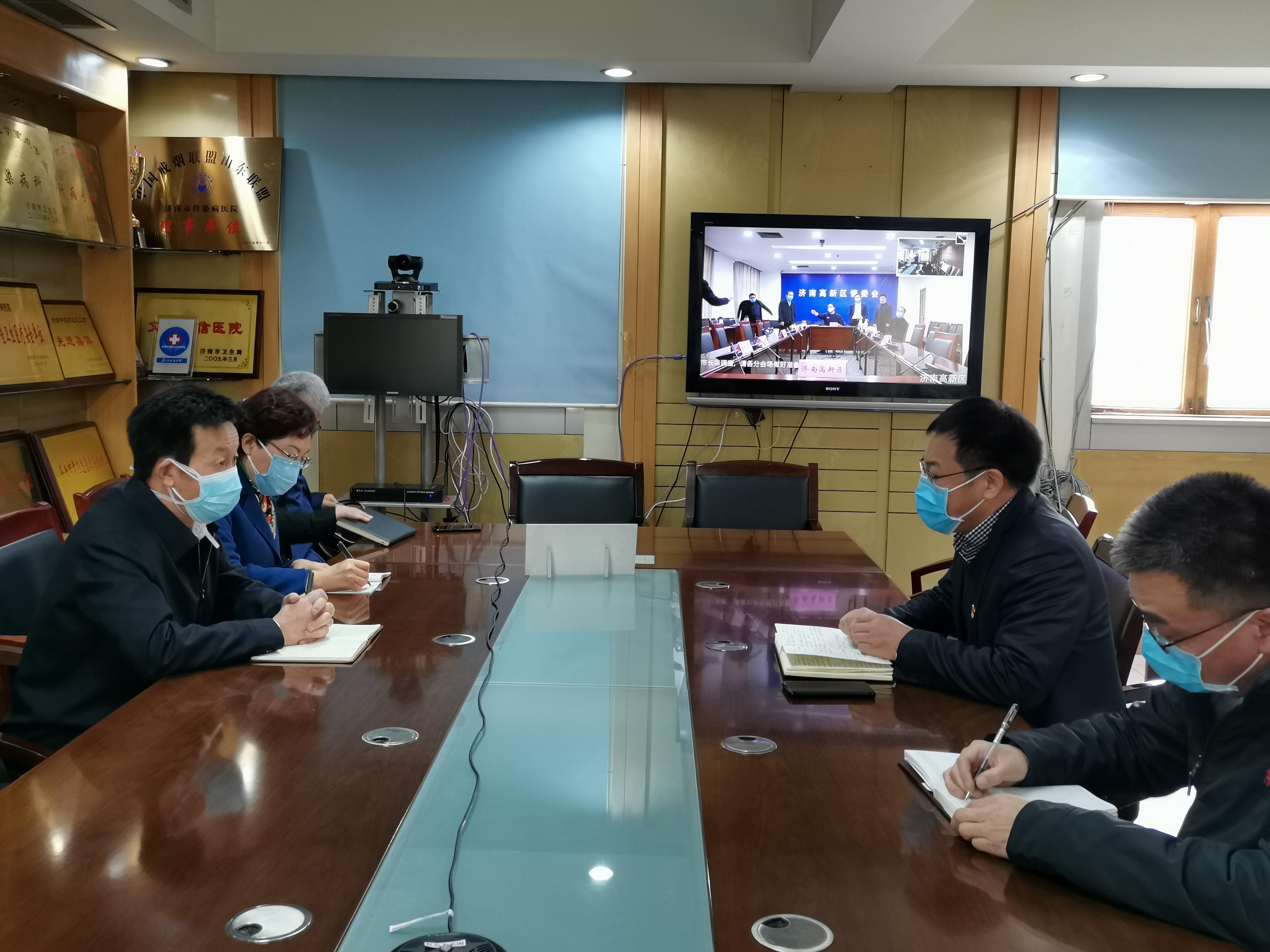 张宁波在济南市传染病医院调研疫情防控情况