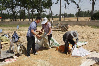 屈国栋(左)总是身处村民中间,边帮忙边了解民情民意。