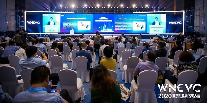 """在2020世界新能源汽车大会上,烟台大学研发的扇形模组轴向磁场轮毂电机技术,作为7项技术之一,获评""""全球新能源汽车前沿技术""""。"""
