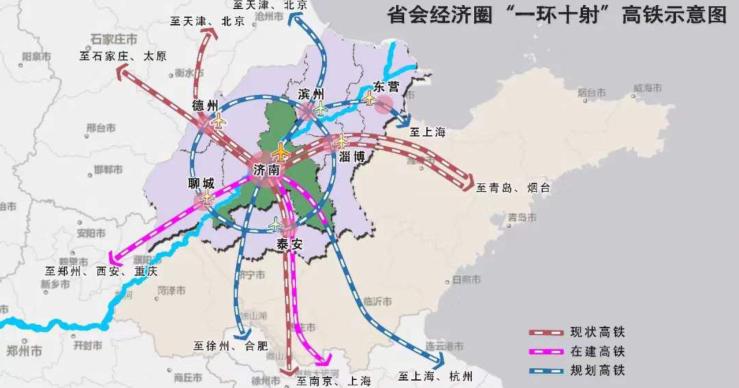 山东省会经济圈将打造1小时通勤圈!实施重大工程项目110个,总投资达7900亿!