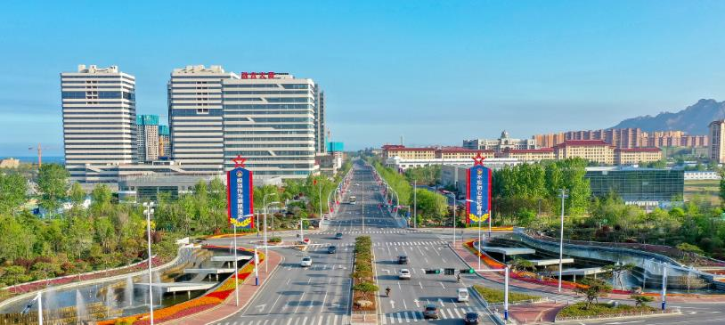 古镇口核心区正以日新月异的发展姿态蓬勃腾飞。记者 陈瑞迪 摄